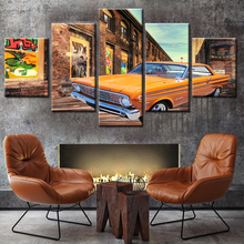Colorful Cool Car Printed group multi panel canvas wall art prints giclee printing