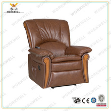 WorkWell classical vibrator electric lift motor PU leather recliner sofa Kw-Fu48