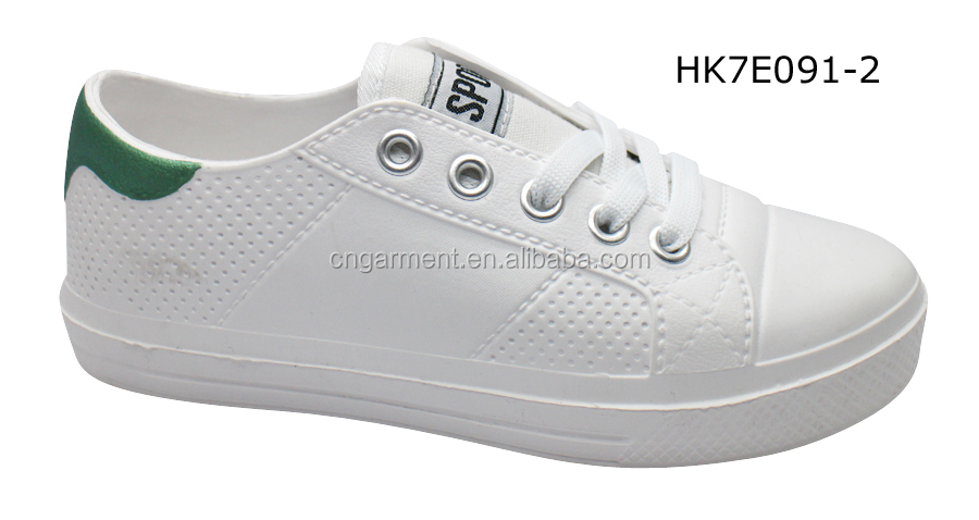 Ladies lace up eva summer white color hot selling shoes