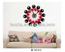 Popular Home Decoration 3D Big Size Wall Watch Sticker Wall Clock