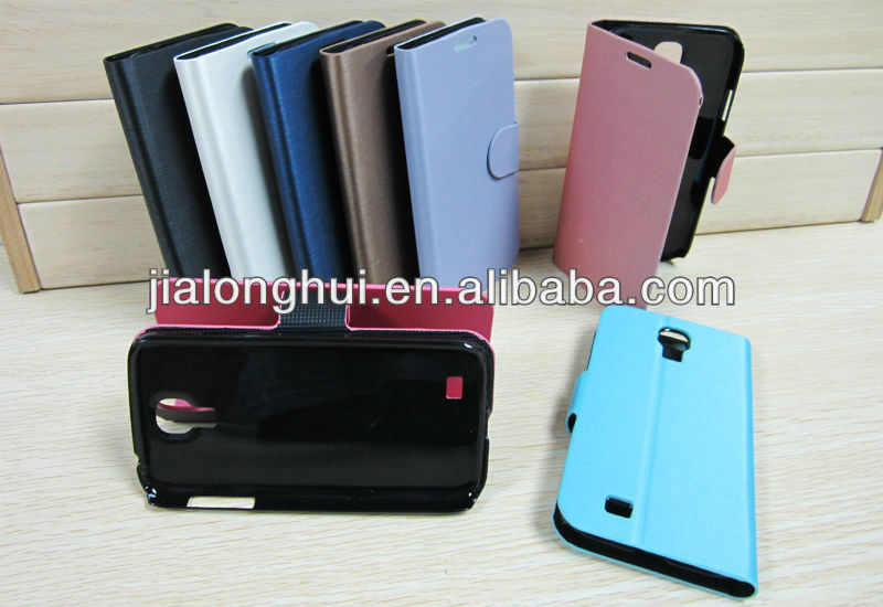 2013 New Style Drawbench Leather Case for samsung galaxy S4/I9500 trend plus wallet leather case