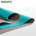 Tear Resistance TPE double layer colors Durable yoga mat in Gymnastics with carrying straps and bag exercise indoors