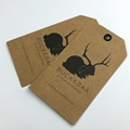 Custom personalized printed Kraft hang tags for clothing