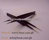 professional eyelash extension tweezers curved and pointed