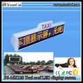 Taxi roof P6-16 X 128 LED moving message advertising sign /LED pannel /Taxi LED display board