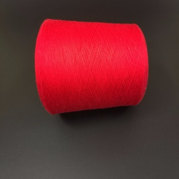 100% wine melange cotton yarn carded and combed
