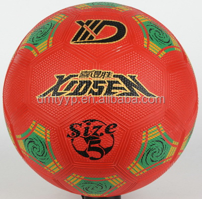 Xidsen,Qianxi Rubber Perble surface Football size 5,imitation leather football.popular design