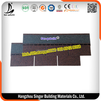 Competitive Price Fiberglass Modified Bitumen 3-tab Red Asphalt Roofing Shingles