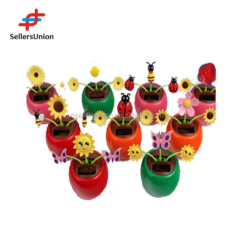 Hot selling solar dancing flower 3 flower design