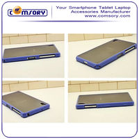 Color bumper phone case in Semi-Transparent cover for Sony Xperia Z2