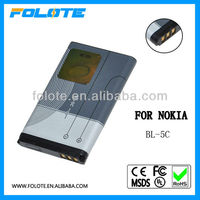long lasting mobile phone battery for nokia 1600 bl-5c