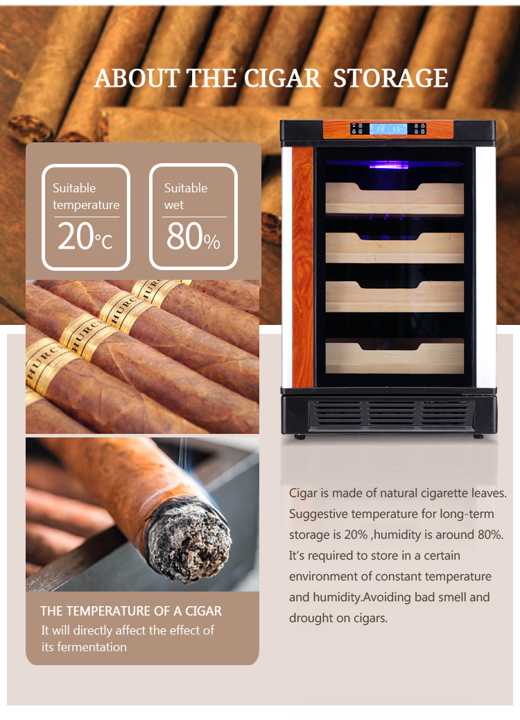 LVNI high-end unique wooden 500pcs temperature humidity controlled cigar humidors for sale