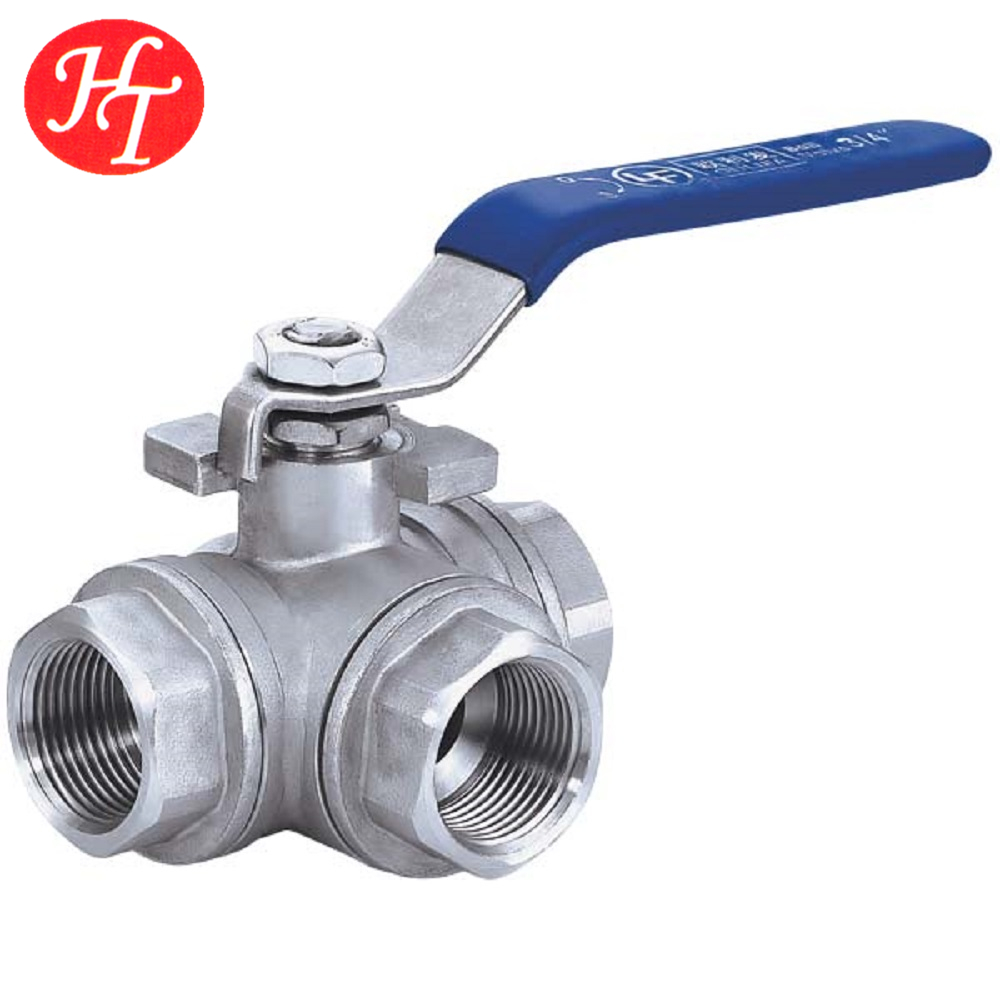 Stainless steel 3 way ball valve, ball valve cf8m 1000 wog screwed end