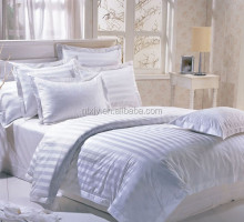 Hotel Cotton Bedding Set 0.5/1/3cm white Stripe Fabric