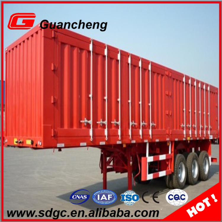 New design enclosed truck container van semi trailer for sale