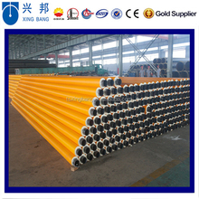black or yellow HDPE coated PU foma pipe insulation filled hot water insulation steel pipe