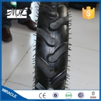 Factory heavy duty rubber tricycle in three wheel tractor wheel 5.00-12