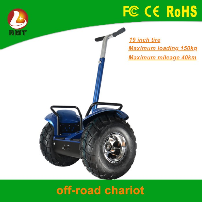 2000w 48v off road electric chariot big wheel kick scooter for adults