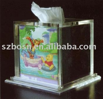 Acrylic Tissue Box,Lucite Napkin Holder,Perspex Display Stand