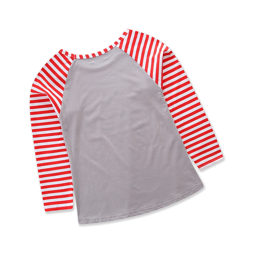 Stripe Baby Kids Christmas 100% Cotton Shirts Infant Baby Girl Shirts