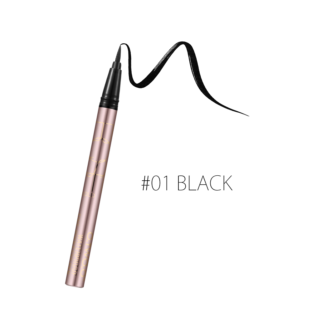 O.TWO.O black waterproof liquid eyeliner pen