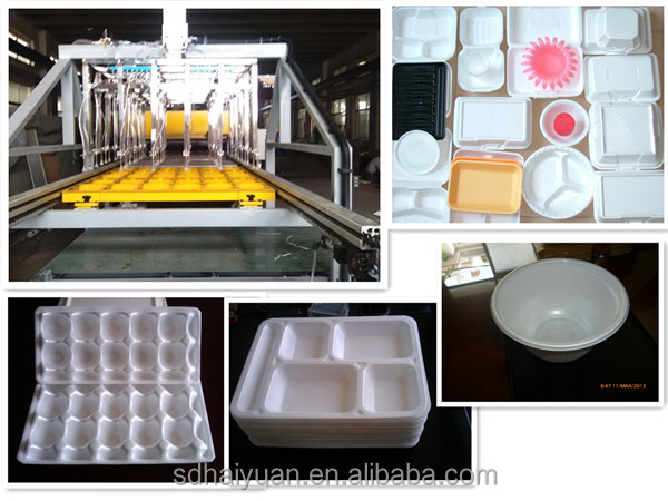 Fully automatic ps thermocol plate making machine with robot