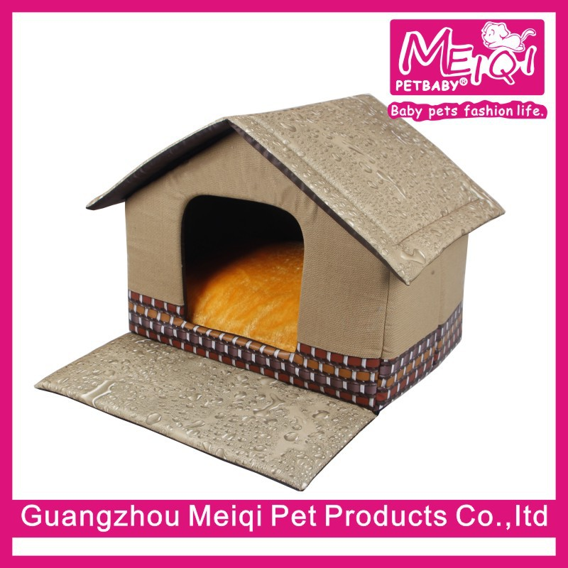 Unique dog indoor house plush dog house with porch