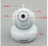 Hot Arrival White JW0005-I Wanscam IP Camera IR Cut inBuilt P2P Support 32G TF Card Record 2 Way Talk Wireless Baby Monitors