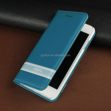 Blue Color PU Leather High Quality Wallet Phone Case for Iphone 7 Cover