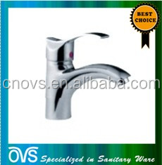 A7201 ovs popular design brass basin faucet curved sanitary item