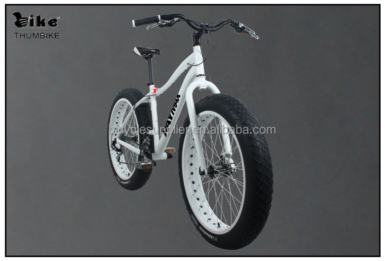 26 inch aluminum fat snow bike
