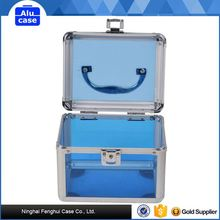 Aluminum cosmetic case with combination lock