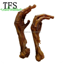 2017 new product china factory dog snacks dried chicken feet OEM factory from qingdao slippers chicken feet for sale pet food