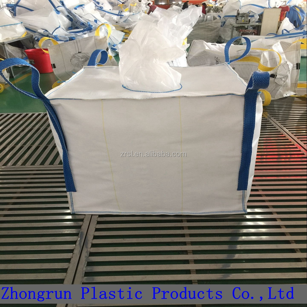 PP big bag 1000kg super sacks dimensions for pet resin , big bulk bags with liner