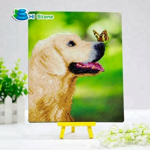 Best sale DIY painting mini cute dog crystal cardboard diamond painting for kids