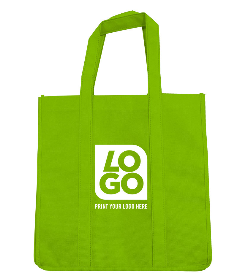 The custom reusable grocery shopping bag non woven foldable tote bag