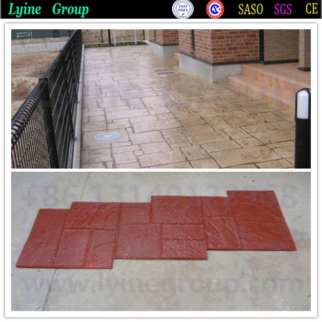 floor landscaping stamp concrete patterns mold