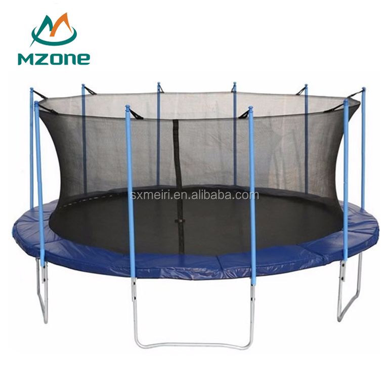 Mzone Cheap 17ft trampoline with safety net wholesale supplier