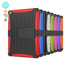 2 in 1 combo durable anti shock pc tpu special design rugged back cover case for ipad 2017 9.7 inch