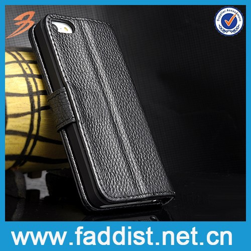 Made in China leather stand smartphone case for iphone 5 5s