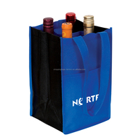 Professional image Promotional Reusable non woven carrier bag,wine bottle bag