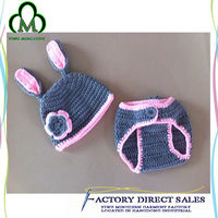 Latest crochet animal hat patterns with diaper cover Made in China for winter for children