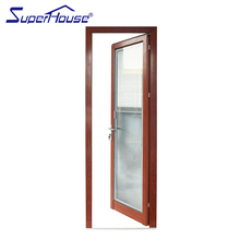 Heat insulation timber grain lowes french doors exterior with EPDM seal