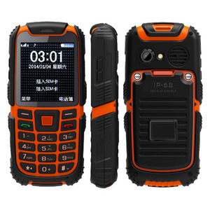 ALPS S6 Dual SIM Card FM Radio Electronic Torch Big Buttons 1.3MP Camera IP67 Waterproof Rugged Phone Rugged Mobile Phone