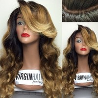 2016 new arrival top quality full thin skin cap human hair lace wig
