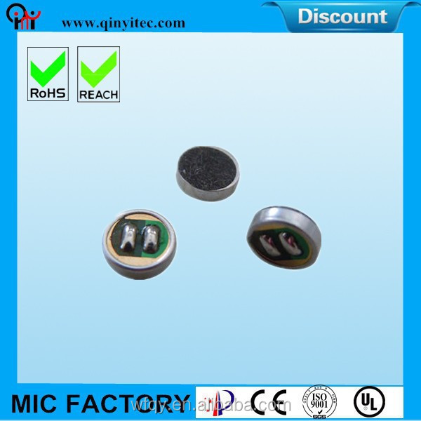 Customed Omnidirectional Electret Microphone Unit Parts Wholesales(FOM6015-RS)