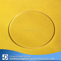 JD Clear Polished Optical Quartz Glass Round Plate