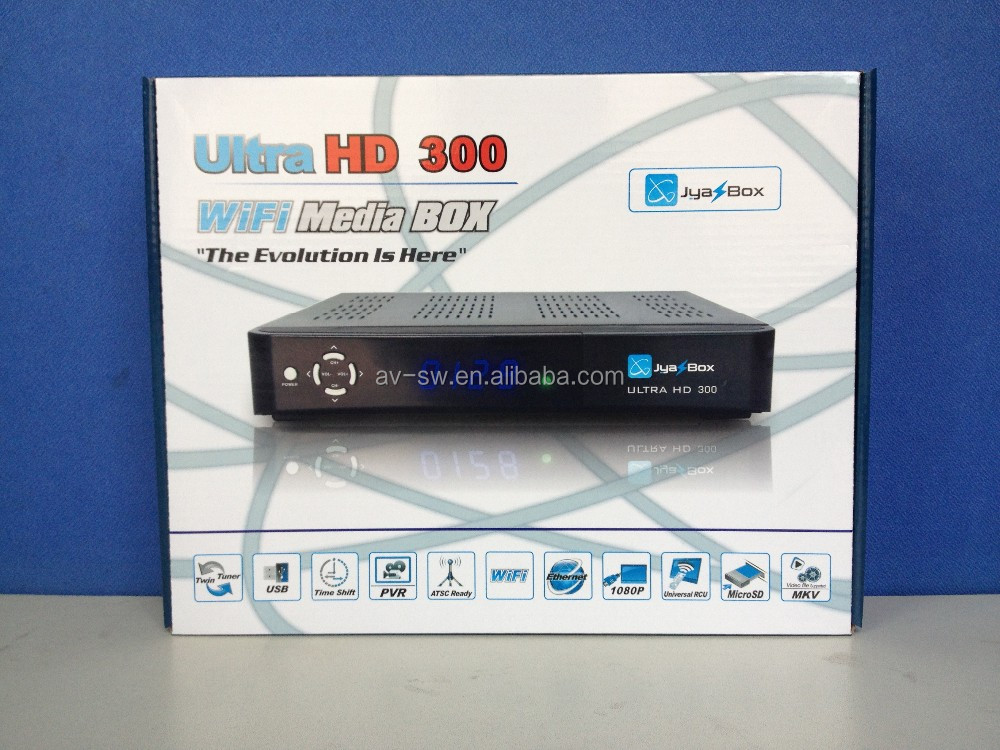 jyazbox ultra 300 with wifi jb200 turbo 8psk universial remote to USA free shipping better than jynxbox 3pcs/lot