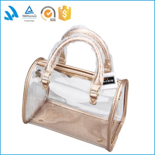 2016 Elegant Luxury Designer Custom Clear Pvc Travelling Wholesale Leather Tote Bag For Fashion Ladies