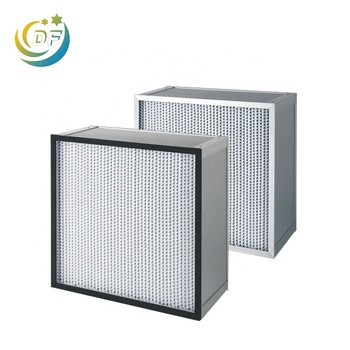 Cleanroom Light Weight Standard Size 24x24x6 Inch Separator Type Hepa Air Filters